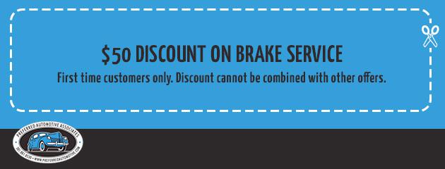 $50 Discount On Brake Services